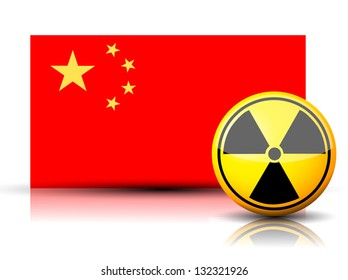 China nuclear flag