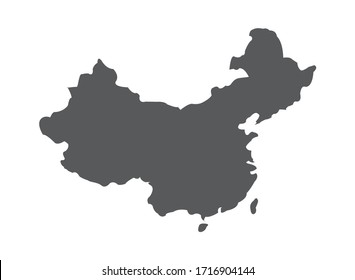 china outline vector map easy to use