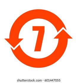 China RoHS symbol 7 years lifetime, vector illustration.
