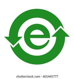 China RoHS symbol, vector illustration.