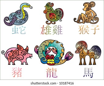 China 's years horoscope characters