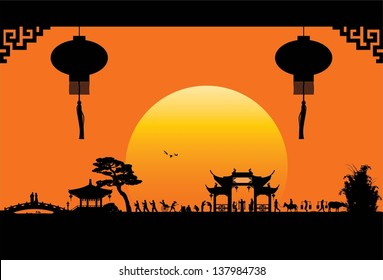 China town, vector