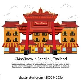china town (Yaowarat) in Bangkok, Thailand