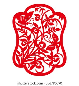 China traditional paper-cut art(orchid pattern)