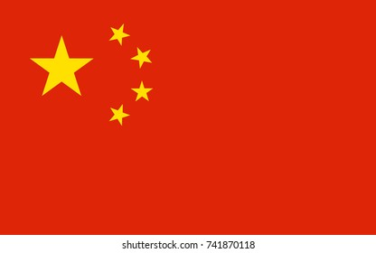 China Vector Flag. Vector illustration.