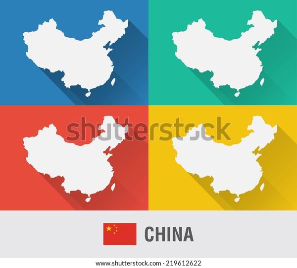 Mapa Del Mundo China.Vector De Stock Libre De Regalias Sobre Mapa Del Mundo De China En219612622