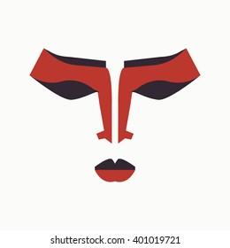 chine opera mask decoration art makeup symbol