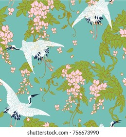 In Chinese art, the crane is the top-ranking bird, symbolizing both status and longevity, who believes that cranes live for centuries.This is a popular design on gifts and cards for the elderly.