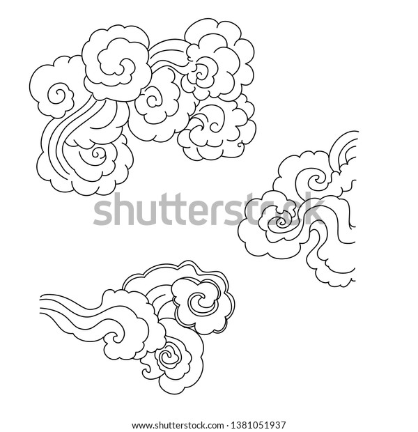 - Chinese Cloud Vector Coloring Book Printing Stock Vector (Royalty Free)  1381051937