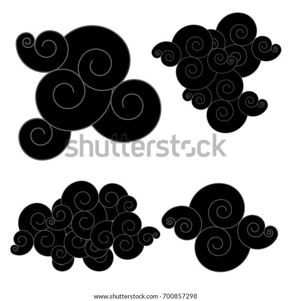 Image Vectorielle De Stock De Nuage Chinois Nuage Japonais Tatouage Chinois 700857298