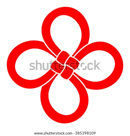Chinese Cloverleaf Knot 4 Leaf Clover Stock Vector Royalty Free