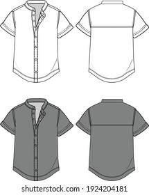 Chinese Collar Shirt Fashion Templates