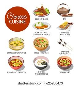 Chinese cuisine menu mockup