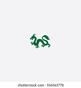Chinese Dragon icon silhouette vector illustration