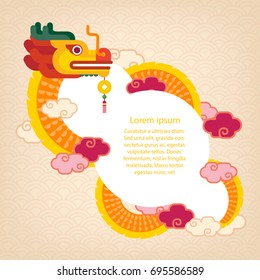 Chinese dragon/ template vector of Chinese celebration