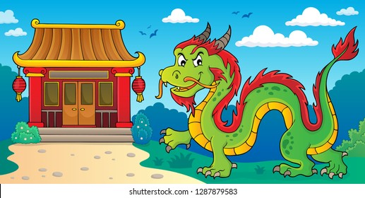 Chinese dragon theme image 2 - eps10 vector illustration.