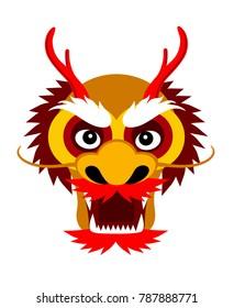 Chinese dragon. Vector flat illustration.