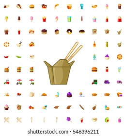 chinese fast food icon illustration isolated vector sign symbol