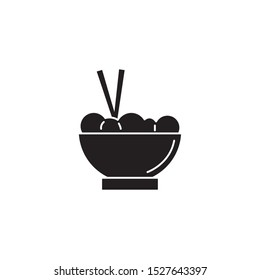chinese fast food line style icon vector illustration design