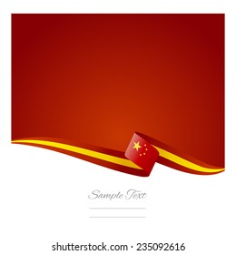 Chinese flag abstract color background vector