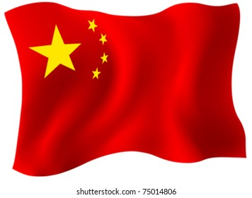 Chinese flag - vector mesh used to create Flag