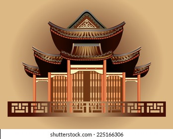 Chinese house ancient temples traditional oriental buildings