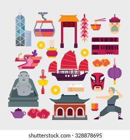 Chinese icons set