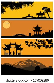 Chinese landscape, vector