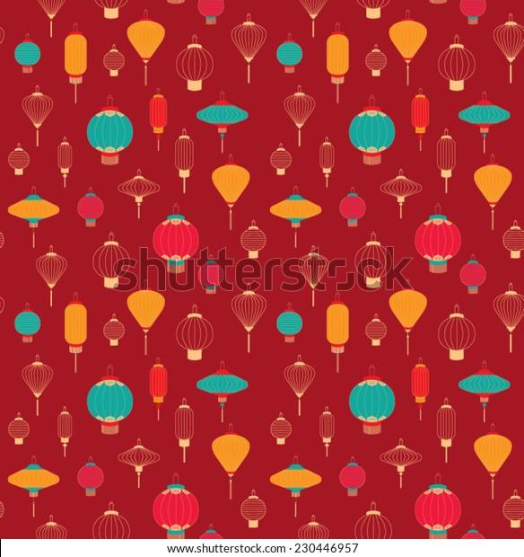Chinese lantern pattern