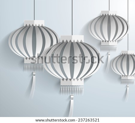 chinese lantern template vectorillustration stock vector royalty