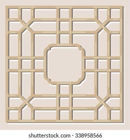 Chinese Lattice Pattern, Vignette Frame