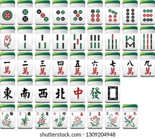 Chinese mahjong has a variety of colors