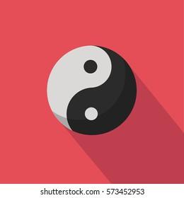 Chinese martial arts yin yang red