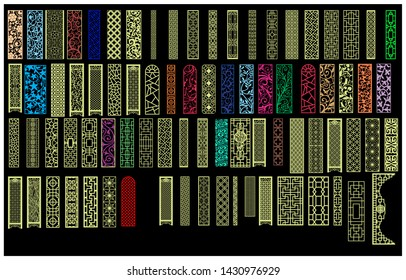 chinese mdf cnc router laser cutting pattern design for mdf wood cutting vector