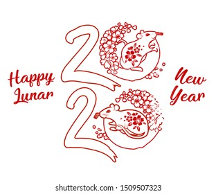 Vietnamese New Year 2020.Vietnamese Lunar New Year Stock Illustrations Images