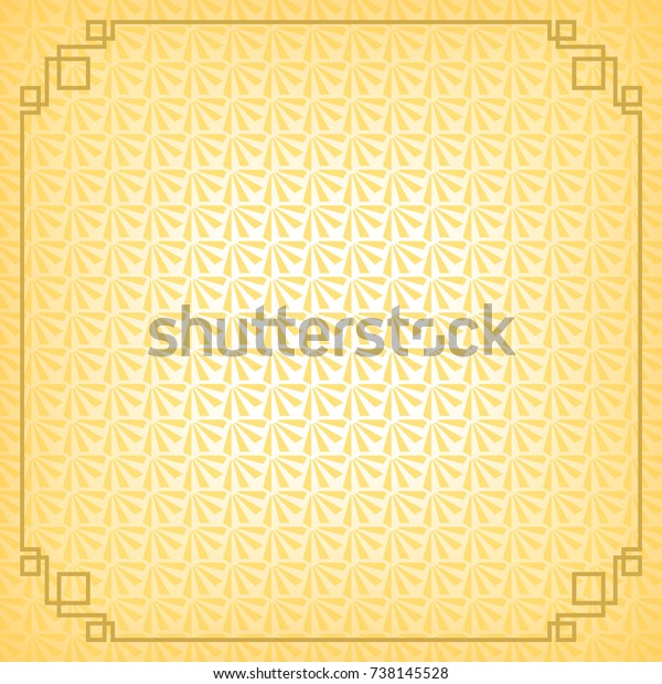 Chinese New Year Background Gold Border Stock Vector (Royalty Free