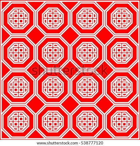 chinese new year background wallpaper pattern in traditional graphic vector