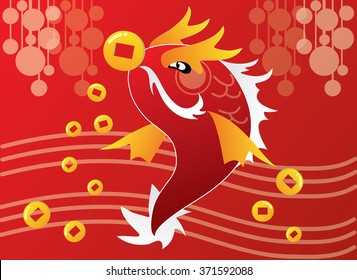 Chinese New Year celebration with dragon fish