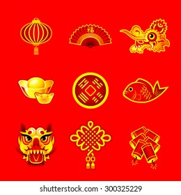 Chinese New Year decorations, ornaments and symbols