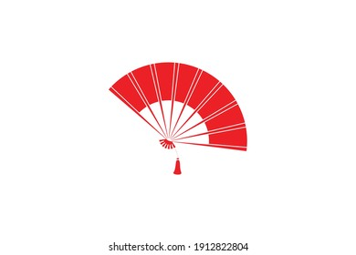 Chinese New Year Fan Glyph Icon