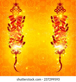 Chinese New Year Fire Crackers Vector Design