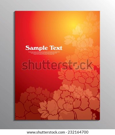 chinese new year flyer design template