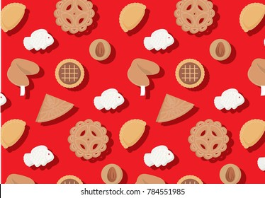 chinese new year goodies/cookies vector/illustration