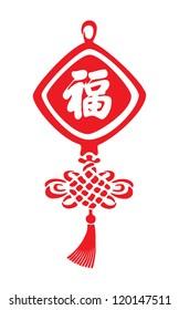 Chinese New year happiness symbol