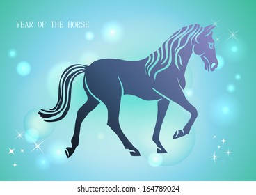 Chinese New Year of horse 2014 stars contemporary background. EPS10 vector file with transparency layers.