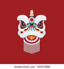 Chinese New Year Lion dance head