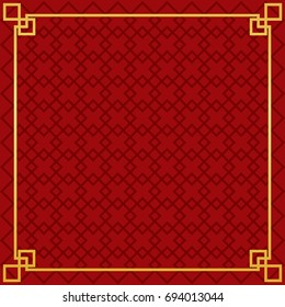 chinese new year pattern border vector icon