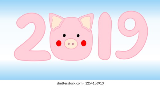 Chinese New Year. The year of the pig. 2019