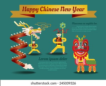 Chinese New Year poster and greeting card.