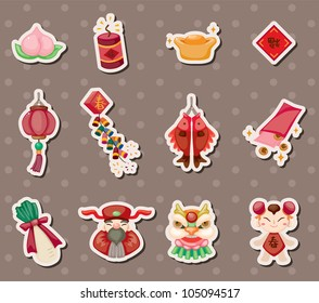 Chinese new year stickers